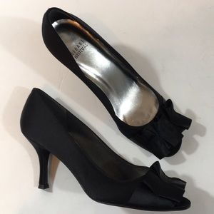 Stuart Weitzman shoes Pump Black Bow open toe
